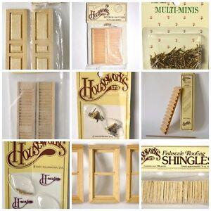 Lot de matériaux miniatures pour maison de poupée Houseworks