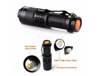 5pcs 5000lm Zoomable Q5 LED Flashlight Torch CREE3 adjustable Super Bright Light