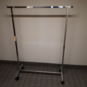 Almost new !Rolling Clothing steel Racks