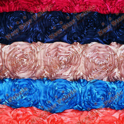 ROSETTE SATIN FABRIC 3-DIMENSIONAL 52