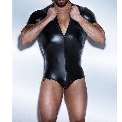 NEW Mens Comedy Bondage Gimp Fancy Dress Costume Stag Night Suit Outfit L//XL