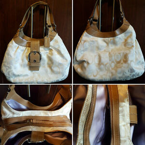 Large White Coach bags  $70