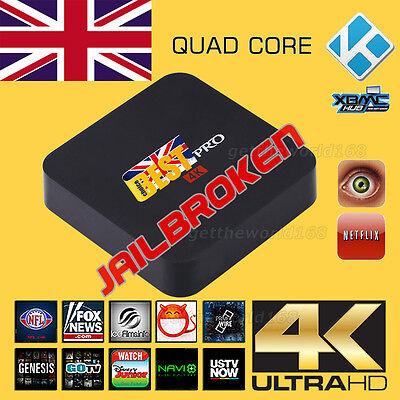 MX PRO Fully Loaded 4K Quad Core Android5.1 KODI (XBMC) TV Box Media Player XXX