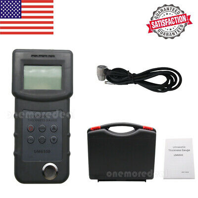 Digital Um6500 Ultrasonic Thickness Gauge Tester Meter 1.0-245mm0.05-8inch Dlus