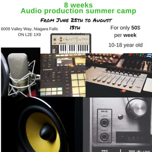 Audio Production summer camp age 10-18