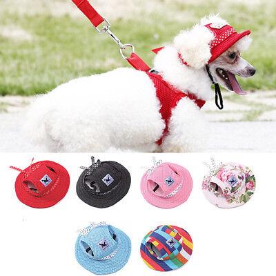 Pet Dog Puppy Cat Topee Canvas Mesh Baseball Visor Hat Peak Cap Sunbonnet