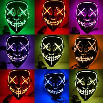 Great Costumes 2019 (2019 Halloween LED Mask Light Funny Election Year Great for Cosplay Costume)
