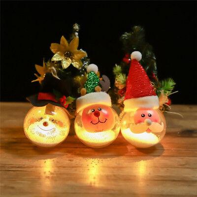 LED Light Up Ball Decor Set Christmas Ornaments Baubles Xmas Tree Hanging Decor (Light Up Hanging Balls)