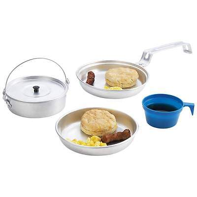Lightweight Personal Aluminum Mess Kit. Scouting, Camping, New.Free Shipping