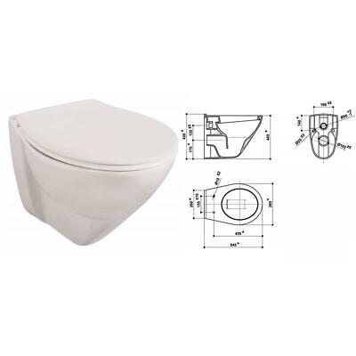 Lidano 2.0 Wandtiefspül WC erhöht 6cm mit Sitz softclose Absenkautomatik weiß