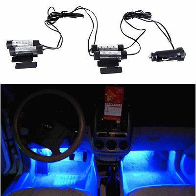 NUEVO 4x 3 LED 6 1.5cm NEON Coche Vehículo Iluminación Interior