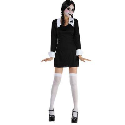 esday Dress Adams Family School Girl Fancy Dress (Adams Family Halloween)