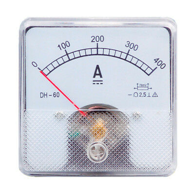 1pc Class 2.5 Analog Panel Amp Current Meter Dc 0-400a Ammeter Dh-60 6060