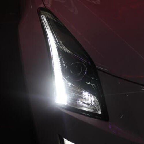 For Cadillac ATS 2013-2016 LED Strip Head Lights HID Xenon ...