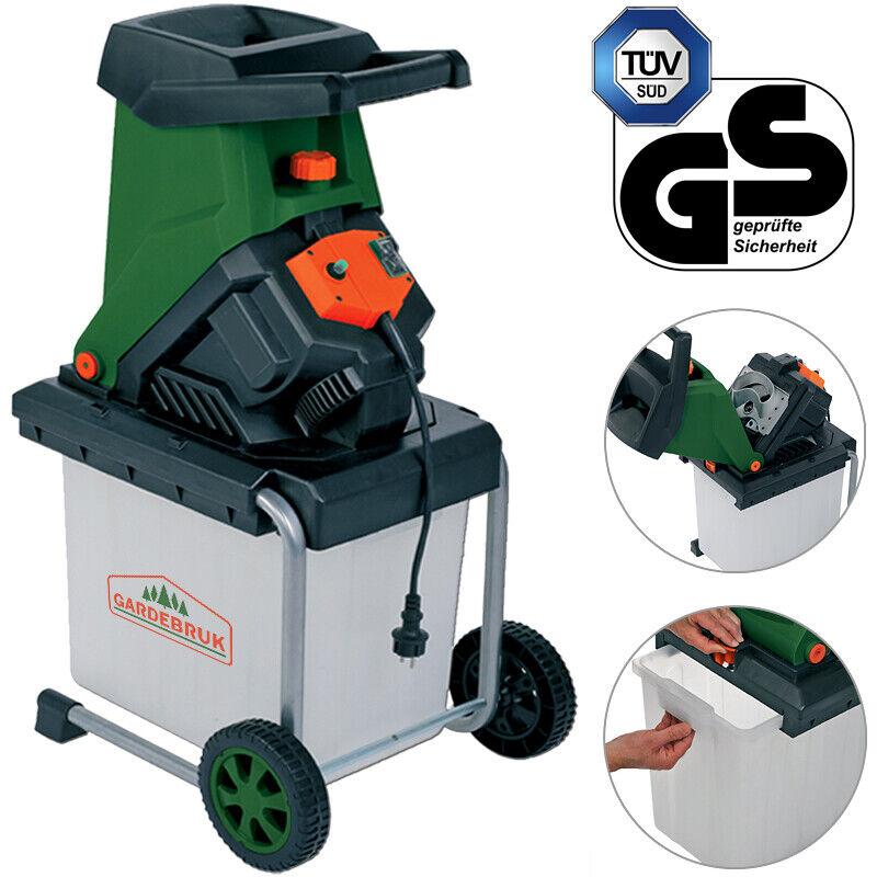 Gardebruk Häcksler Schredder Gartenhäcksler Messerhäcksler Elektro Holz 2500W