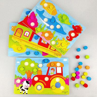 Montessori Kids Early Learning Educational Cartoon Toys Wooden Tangram Jigsaw