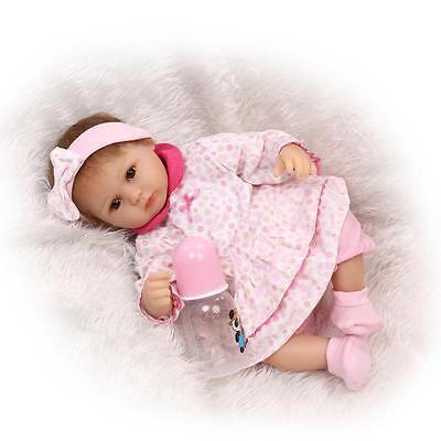 Realistic Handmade Girl Doll Lifelike Newborn Vinyl Silicone Reborn Baby Dolls
