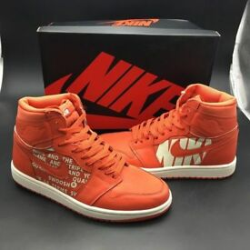 Nike Air Jordan 1 - Orange silk satin