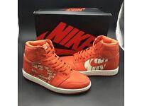 Nike Air Jordan 1 - Orange silk satin