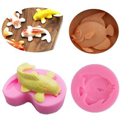 Fish Cake Decorations (3D Fish Silicone Fondant Mold Cake Decorating Chocolate Sugarcraft Baking)