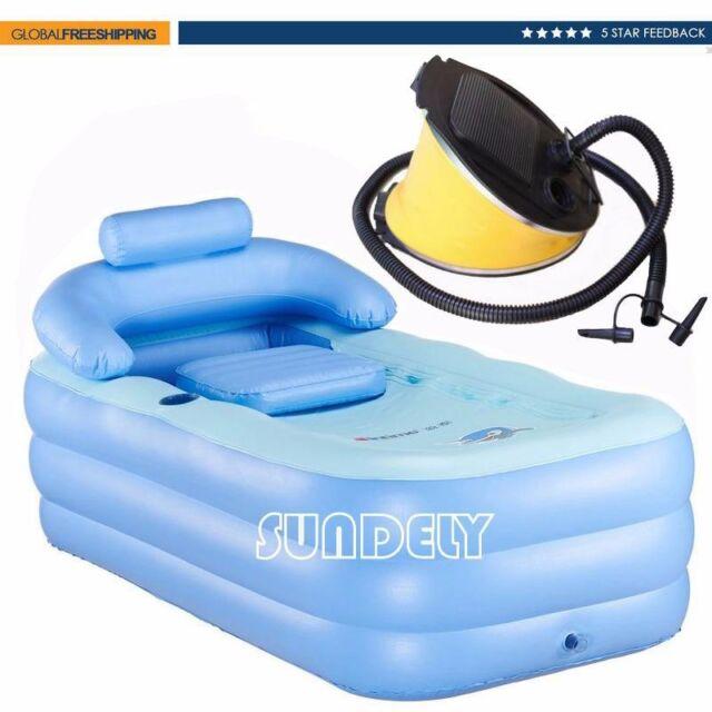 Outdoor Inflatable Spa Bath Bathtub Portable Foldable Bathroom ...