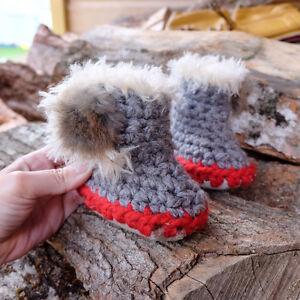 Chaussons tricotés cadeau bebe Pantoufles