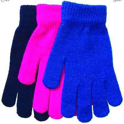 Kids Gloves 12 Pair Boy Girl Children Age 8 to 16 Warm Gloves Costume Gloves