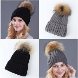 BRAND NEW LUXURY REAL FUR POMPOM HATS!