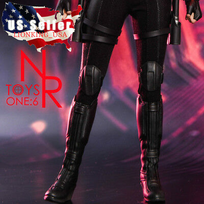 1/6 Black Widow Women Combat Boots For Phicen 12