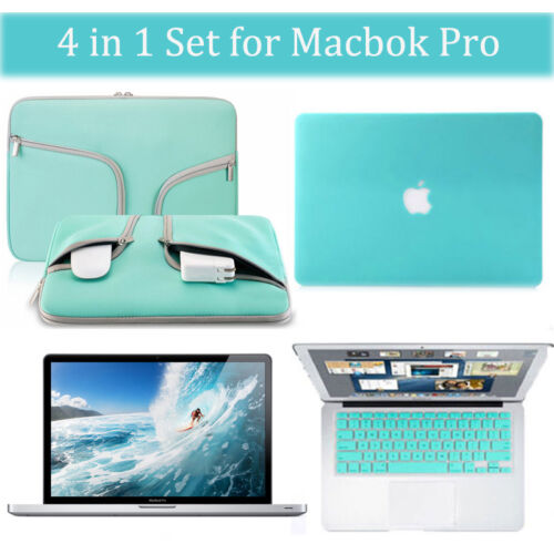 """LCD Cover for Macbook Air Pro 11 13 15/"""" Teal Blue Carry Bag Hard Case Keyboard"""