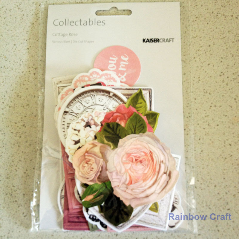 2016-2019 Kaisercraft Die Cuts Scrapbooking collectables 62 option Embellishment - Cottage Rose