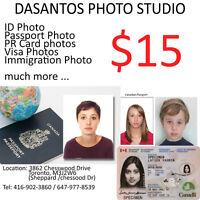 Passport photos $15 Immigration and Citizenship photos $15