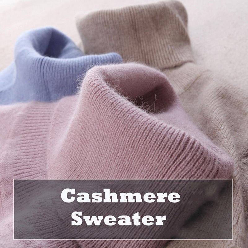 Maglione da donna con collo alto cashmere e maglione lavorato maglia