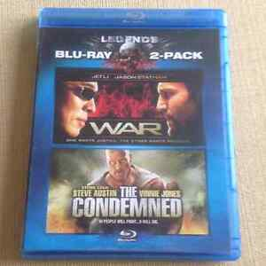 War and The Condemned BLU-RAY pack Cornwall Ontario image 1