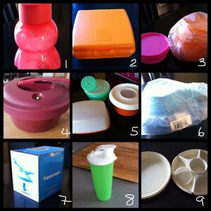 Tupperware et autres plats à vendre