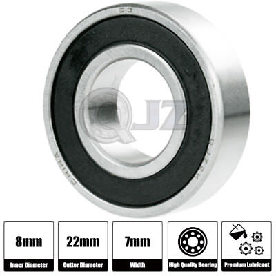 1x 608 Ball Bearing Abec-3 8mm X22mm X 7mm Rubber Seal Ball Bearing Skate Board