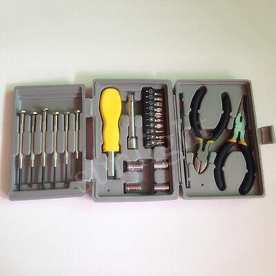 Household Tool Kit Set Metal Toolbox Electrical Tool Kit Computer Repair Forceps