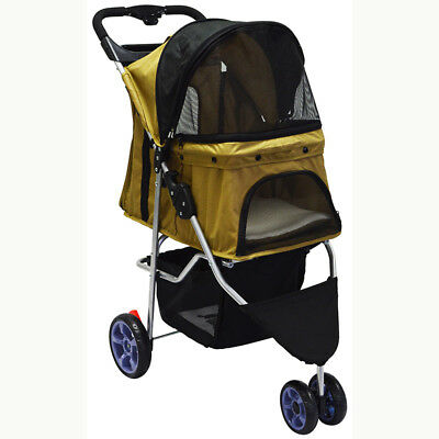 Intbuying Best pet stroller cart for dog cat with wheels small large