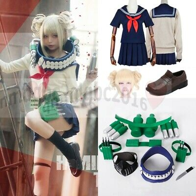 My Hero Academia League of Villains Himiko Toga Cosplay Costumes Uniform Props](Toga Dresses)