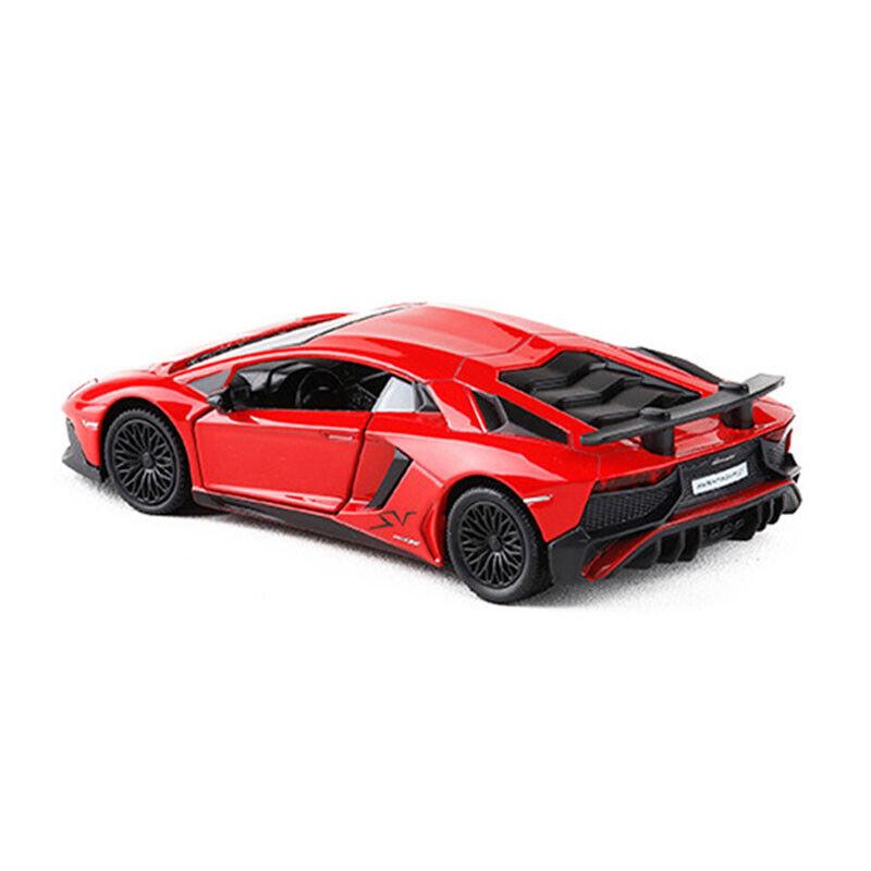 1//36 Lamborghini Aventador LP750-4 SV Super Car Model Diecast Toy Vehicle Gift