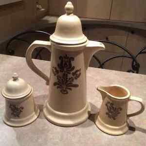 Pfaltzgraff Coffee Pot and Creamer and Sugar - New All for $20