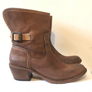 Frye Carmen Shortie Boots - 7.5 - Brown Leather - $100 OBO