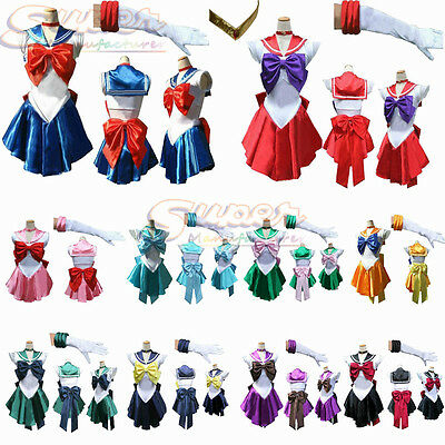 Pretty Soldier Sailor Moon Cosplay Costume for Adults Kids Baby Halloween Party (Baby Soldier Costume)