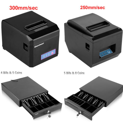 80mm USB Thermodrucker Bondrucker Belegdrucker AUTO-CUT POS Thermal Printer EU