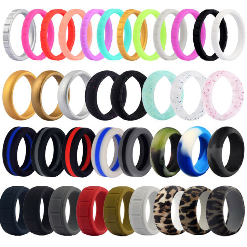 flexible silicone wedding ring men women engagement