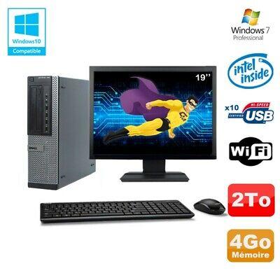 Lot PC Dell 790 DT G630 2.7Ghz 4Go Disque 2000Go DVD WIFI Win 7 + Ecran 19
