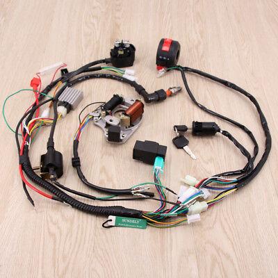 Wiring Harness Loom Solenoid Coil CDI 50 70 90cc 110cc 125cc Quad Dirt Bike ATV