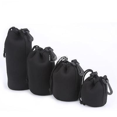 4pcs Neoprene Lens Protector Pouch Case Bag for DSLR Camera Canon Sony Nikon US