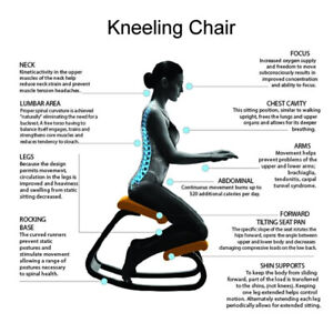 Long periods of sitting causing back pain? Try a kneeling chair!
