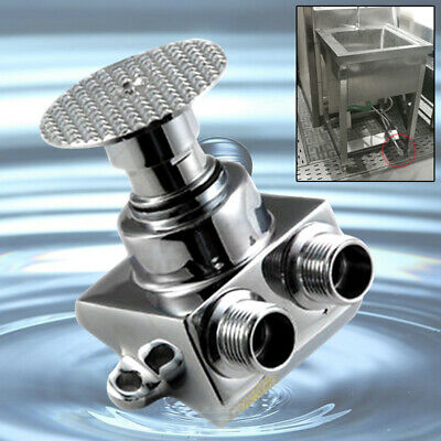 1x Cobre Pedal Control Grifo Válvula Lavabo Simple Agua Fría Montaje Accesorios